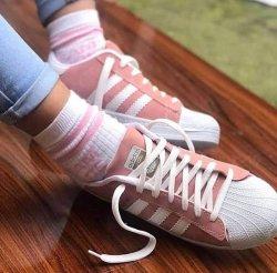 Adidas Superstar Pudra Beyaz Bayan Ayakkabısı