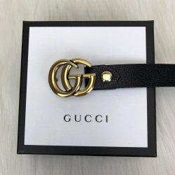 Gucci Buckle Belt Hakiki Deri Siyah Bayan Kemer